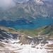 Looking down from the ridge to Murtairac