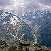 View from the summit into the Forno valley