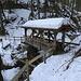Dieses schöne Holzbrücklein über den Schnebelhornbach würde man nicht erwarten