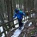 Steile Waldpassage im Buechli zwischen Loh und Unteralpli
