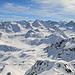 Panoramablick vom Isentällispitz bis zum Bernina Massiv