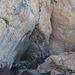 Vorraum des Höhlenausgangs - letzter schattiger Platz auf dieser Wanderung