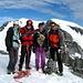 Gipfelfoto Piz Urlaun 3359m mit Tanja, Cyrill, Noldi und mir, im Hintergrund der Tödi 3614m