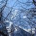Im Aufstieg zum Bergeller Höhenweg - die nördliche Talseite präsentierte sich noch tief winterlich.