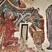 Un'Annunciazione affrescata sulla parete di una piccola sacrestia laterale.
