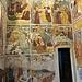 Parete nord della campata presbiteriale (dall'alto): Gesù tra i Dottori; Gesù (bimbo) fa risorgere un compagno di giochi; Gesù (bimbo) ridà la vista ad un cieco; Battesimo di Gesù; Conversione della Maddalena (?); Cena in casa di Simone; Resurrezione di Lazzaro; Ingresso in Gerusalemme;