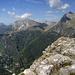 Blick vom Monte Nona auf Pania della Croce und Monte Corchia
