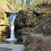 Der erste schöne, grosse Wasserfall im Sagenraintobel.