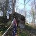am Ahornfels - der Name ist Programm, denn auf dem Fels steht ein Ahornbaum, der aber aus dieser Perspektive nicht aufs Bild geht