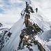 Kraxelspass am Grat bei P.2995 oberhalb des Claridenfirns um die neuen Steigeisen wenigstens noch zu testen