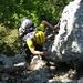 Olli beim Klettern