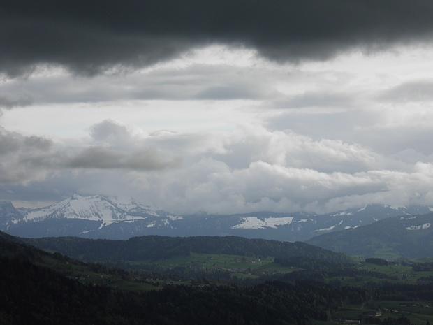 Wolkendrama über dem Bregenzer Wald