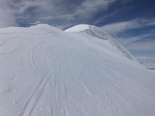 Von hier sind es kaum noch 40hm zum Gipfel.