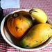 Herrliche, leckere Früchte: Mango, Papaya und Banane.