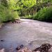 Einstiegsstelle für Wildwasserfahrten
