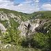 Krkavčie skaly - Blick über die Zádielska tiesňava, taleinwärts.