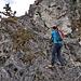 Kletterstelle im Übergang zum Riesenkopf