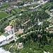 """Blick vom Colodri auf """"unseren"""" Campingplatz Arco."""