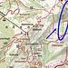 Die blau markierte Route gibt es NICHT, nicht mal Pfadspuren. Dafür gibt es einen guten Pfad über den Siechenkopf (hier nicht eingezeichnet). Schon seltsam, wie bei Kompass die Karten gemacht werden ...