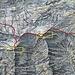 Meine Schneeschuh- und Steigeisentout über den Pizzo Corói (2785,1m) und den etwas höheren Pizzo Marumo (2790,1m) hane ich rot auf der Karte eingezeichnet.