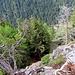 Siamo a picco sulla Val Gamba
