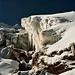 Bizzare Gletscher und Felslandschaft beim Ausstieg.