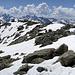 Sicht vom Gipfel in die Silvrettagruppe