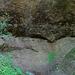 Hoher, jedoch magerer Wasserfall im Lochbachtobel.