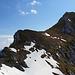 Kuhkopf aufgenommen vom südlich  streichenden Felsriegel im Übergang zum Lackenkarkopf.