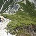 Durch Latschen und über kurze felsige Stellen hinauf zur Arnplattenspitze ...