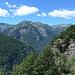 Blick auf die Berge des VAVM gegenüber