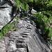 und nochmals eine steilere Passage im Fels