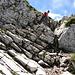 Ein paar Felsen im Aufstieg