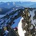 si alternano tratti nevosi e tratti di arrampicata