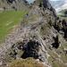 Blick zum kodierten Gipfel Bremeflue 1930m, das Felsige Zeugs umgangen und auf direktem weg den Gipfel erstiegen