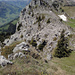 ...und nun wieder Blick zurück vom Hauptgipfel der Bremeflue zum westlichen Gipfel (mit den Schafen)