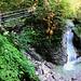 Erster toller Wasserfall in der Schleifmühleklamm.