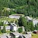 Tiefblick zur Therme Vals, erbaut 1996. Arch. Peter Zumthor