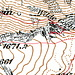 Mein GPS-Track auf eine Karte von 1952 gelegt.