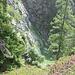dalla quota 1820 sguardo verso l'imbocco del Crös du Zücher