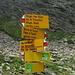Incrocio tra il sentiero per L'Alpe d'Arbeola, quello per il Rifugio Pian Grand e l'Alpe di Trescolmen e quello per il Pass di Passit