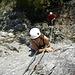 Gabriele im Klettergarten