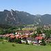 Sicht auf Oberammergau mit Kofel.