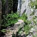 Der Einstieg zum Ettaler Manndl Klettersteig ist unübersehbar.