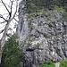 Am südlichen Einstieg des Gross Schijen. Diese Wand zu Beginn ist auch gleich die Schlüsselstelle.