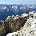 und dann sind wir schon auf dem Gipfel mit der beeindruckenden Spalte