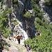 nochmals steil und in zerklüftetem Felsgelände - die letzten Meter hinauf zum Zunterkopf
