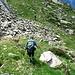 In questa foto si vede il punto dove abbandonare il sentiero bollato che porta all'Alpe Calvaresc Desora. In libera per salire al Piz de l'Ardion (ma anche al Piz de Mezz o al Piz Calvaresc)