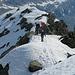 Colle quota 2685 - Lungo il breve tratto in cresta.