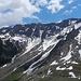 Vom Merezebach-Gletscher ist ausser ein paar Lawinenzügen nichts mehr vorhanden